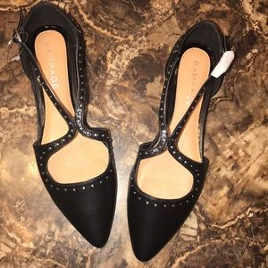 Shoes - Rampage black Studed Callee Flats Sz8